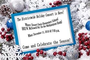 Districtwidde Holiday Concert is Here